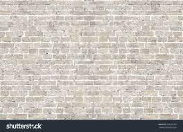 vintage whitewashed brick wall horizontal background stock photo