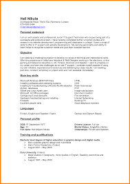 Example Of Summary In Resume by Personal Summary On Resume Resume For Your Job Application
