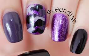 easy purple camouflage nails youtube