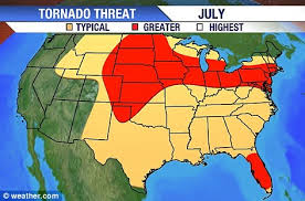 tornado map tornado map shows the path of every tornado to hit the u s in the