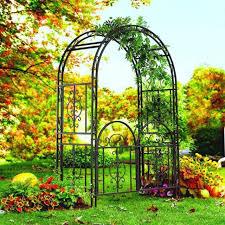 wedding arbor metal arch gate sturdy wrought iron garden wedding trellis arbor