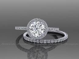 White Gold Wedding Ring Sets by Buy White Sapphire Wedding Sets Online