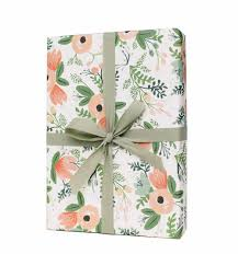 floral gift wrapping paper wildflower wrapping sheets by rifle paper co made in usa