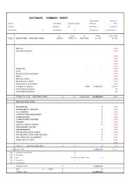 Rom Estimate Template by 49700707 T9085 Estimate Blank