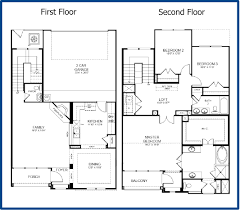 home design modern 2 story house floor plans transitional medium