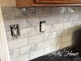 Carrara Marble Backsplash Hicks House - Carrara backsplash