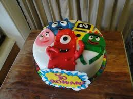 yo gabba gabba birthday cake3d cards 41 best cake ideas used images on anniversary ideas