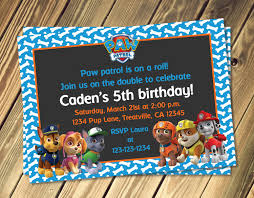 paw patrol inspired birthday invitation with photo option