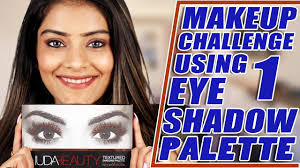 Challenge Tutorial Makeup Challenge Using One Eyeshadow Palette Makeup