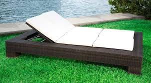 indoor wicker chaise lounge cushions by the pool or on the deck a
