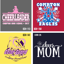 new cheerleading and color guard layout and clip art for custom t