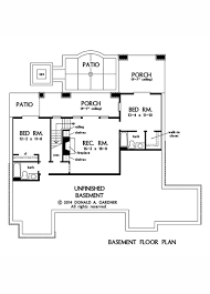 Basement Floor Plans House Plan The Mosscliff By Donald A Gardner Architects