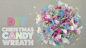 deco mesh christmas candy wreath youtube