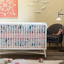 Dwell Crib Bedding Dwellstudio Crib Skirt Canvas Meadow Powder Blue Rosalind