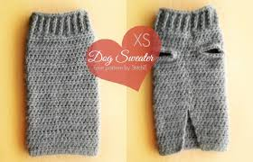 sweater with dogs on it small sweater crochet pattern stitch11