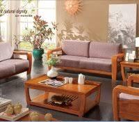 Simple Wooden Sofa Live Edge Furniture Desk Wood Slab Coffee Table Wooden Sofa Set