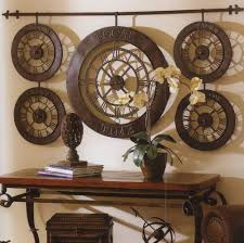 Bronze Home Decor Extra Large International Times Of The World Wall Clock Antique