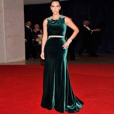 Red Carpet Gowns Sale by Sale Mermaid Velvet Kim Kardashian Red Carpet Celebrity