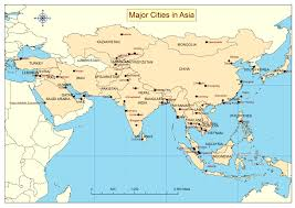 Asia Map With Capitals by Maps Of Asian Cities U2013 World Map Weltkarte Peta Dunia Mapa Del
