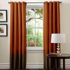 Burnt Orange Curtains Orange Living Room Curtains
