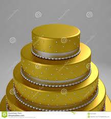 goldene hochzeitstorte goldene hochzeitstorte stock abbildung bild luxus 40234806