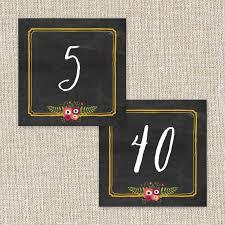 Chalkboard Wedding Program Template Wedding Table Numbers Printable Pdf By Basic Invite