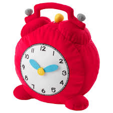 hemmahos soft toy clock red ikea
