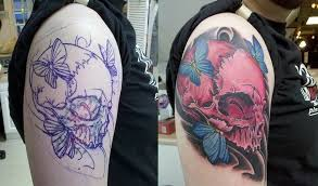 pink skull coverup by is absolution on deviantart