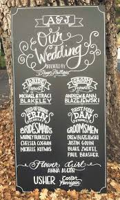 chalkboard wedding program pin by solange alfaro on wedding signs wedding and