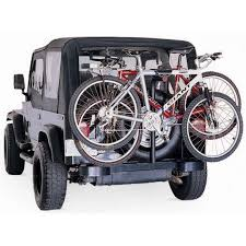 Rugged Ridge Tire Carrier Rugged Ridge Spare Tire Carrier Locking Bike Rack For 2 Bikes Black