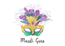 mardi gras mask creative purple and green watercolor mardi gras mask vector