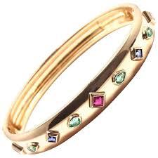 yellow bangle bracelet images Cartier diamond sapphire emerald yellow gold cuff bangle bracelet jpg