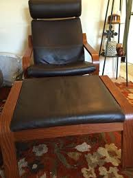 Ikea Poang Ottoman Poang Chair Review Brown Leather Style Chair Ottoman Sold Ikea