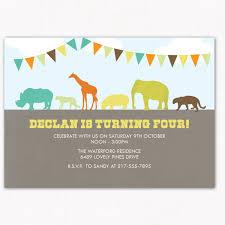 zoo birthday party invitation perfect for zoo jungle or safari