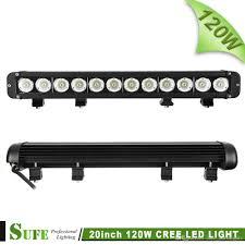 20 single row led light bar sufe 20 inch 120w single row led light bar driving l combo for
