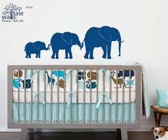 Elephant Room Decor Elephant Line Wall Decal Family Of Elephant For Baby Room For