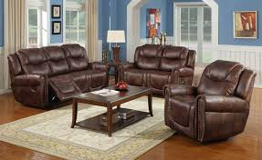 leather sofa recliner set center divinity
