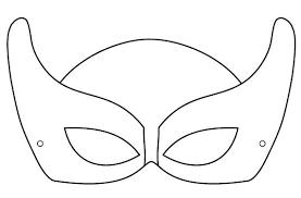 Coloriages Fille Super Heros Masque Super Hero Coloriage Fille Super