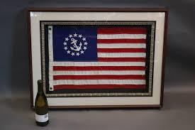 Custom Burgee Flags American Flag Pennant In Shadowbox Frame Lannan Gallery