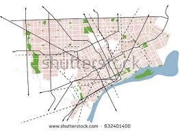 map usa detroit detroit michigan usa vector map stock vector 632401391