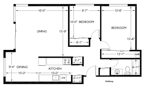 floor plan for two bedroom apartment small apartments plans