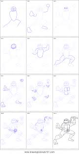 draw michelangelo teenage mutant ninja turtles