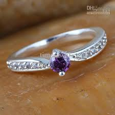 small rings images Women silver ring sz 7 wed j8064 small round purple amethyst jpg