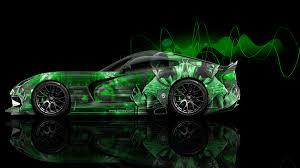 Dodge Viper Green - dodge viper mortal kombat reptile aerography car 2014 el tony