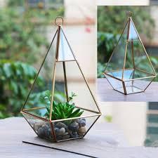 glass terrarium container flower planter fairy miniature garden