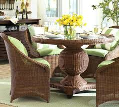 Patio Chair Cushions Set Of 4 Wicker Chair Set Palmetto All Weather Wicker Pedestal Dining