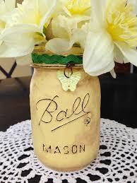 Mason Jar Vases For Wedding Distressed Mason Jar Vase And Distressed Mason Jar Luminary Tutorials