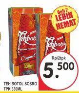 Teh Kotak Sosro 330ml promo harga sosro teh terbaru minggu ini hemat id
