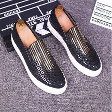 Comfortable Moccasins Ashion Men Loafers Sequined Shoes Slip On Men Leopard Shoes