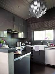 Sleek Kitchen Design Cabinets U0026 Storages Luxury Gray Stylish Glossy Sleek Kitchen
